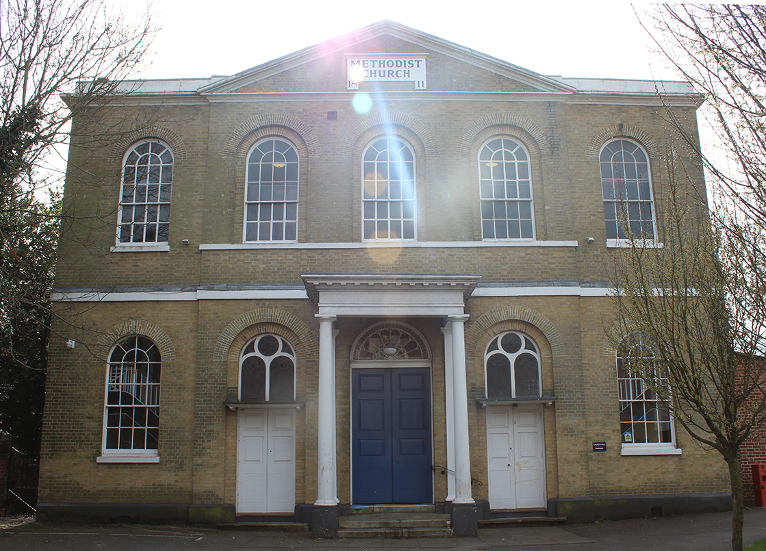 A photo of the exterior of St. Peter's Methodist Church, Canterbury